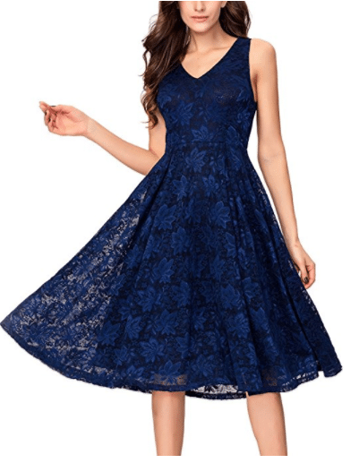 19. Noctflos Lace Cocktail Dress Tea length dresses