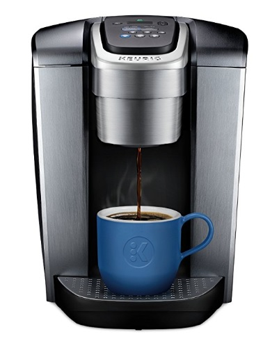 Keurig coffee maker with blue cup