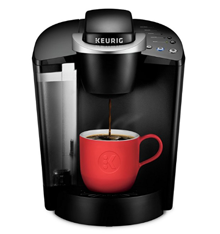 Keurig coffee maker with cup