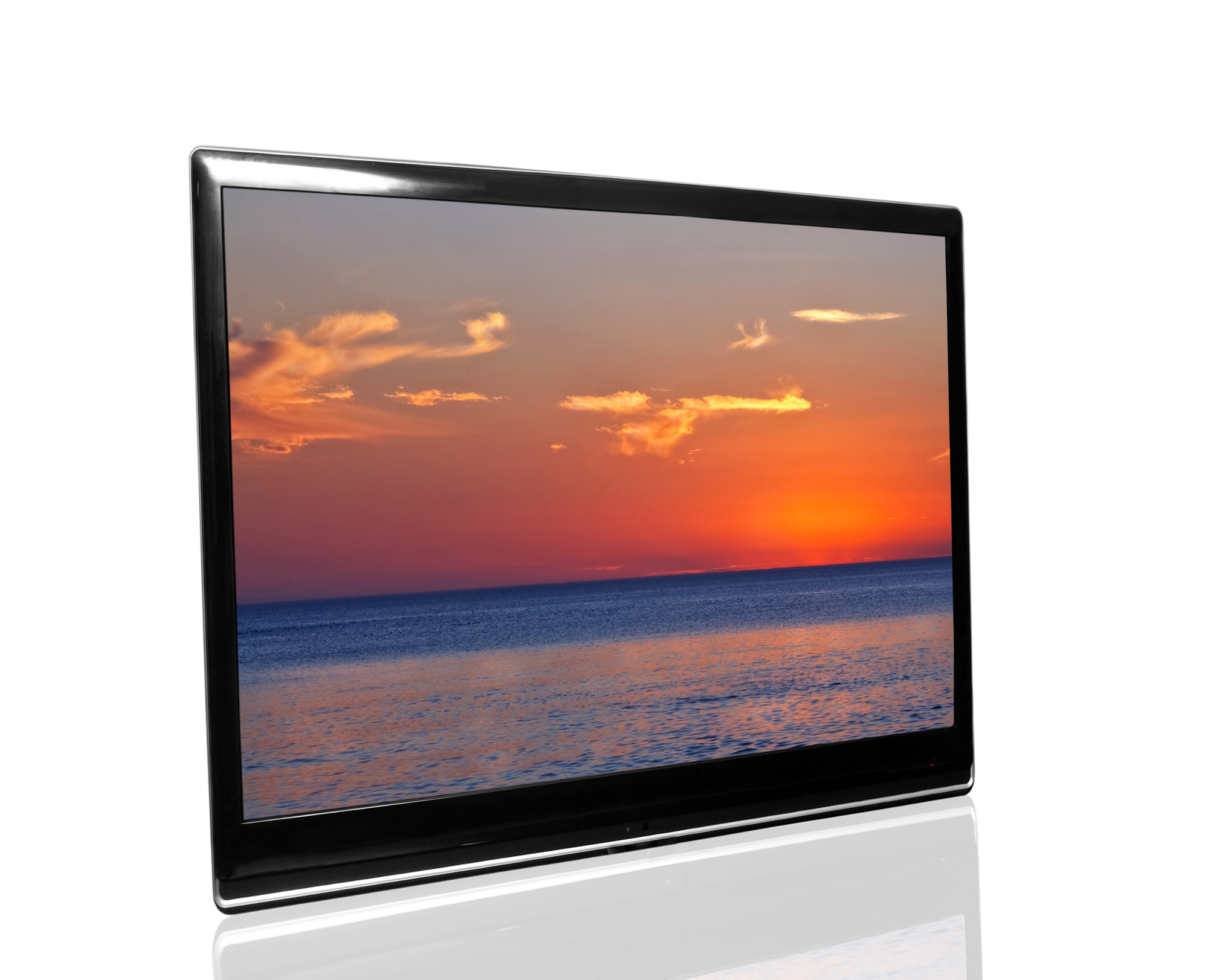 Tv showing sunset