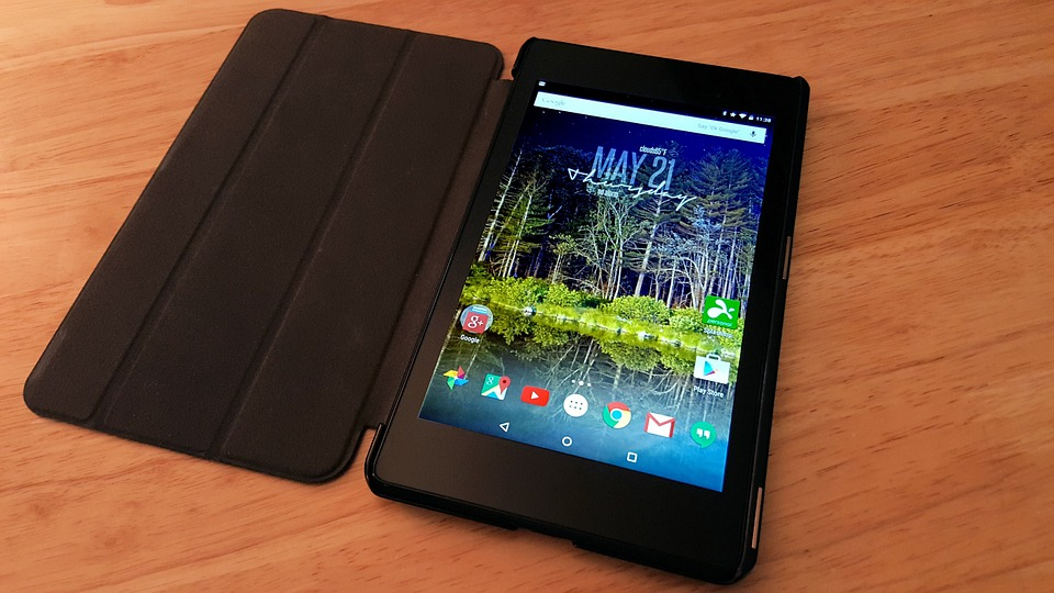 android tablet with a case