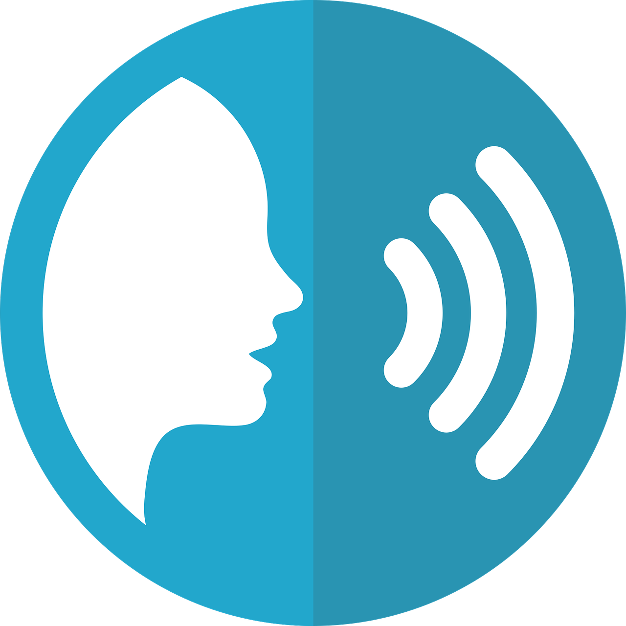What is artificial intelligence? Light blue speech icon