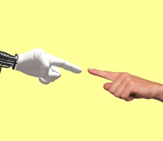 what is artificial intelligence technology-robot-human-hand